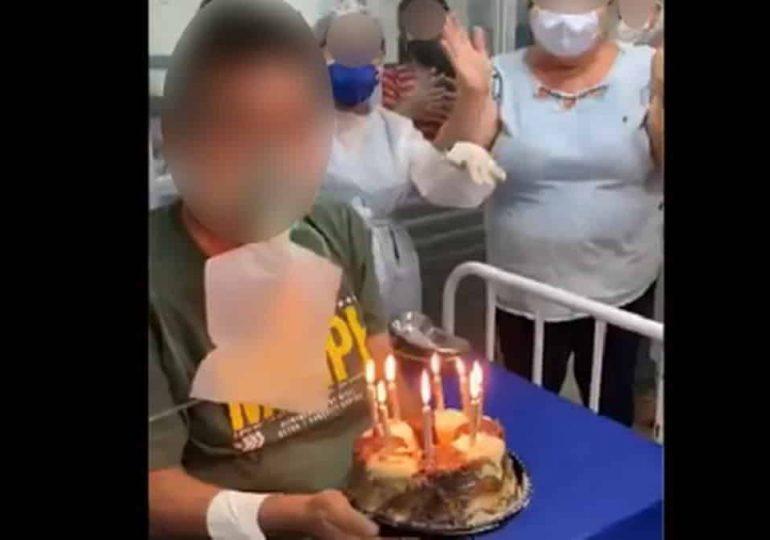 Morre paciente que assoprou velas de aniversário em ala de Covid-19