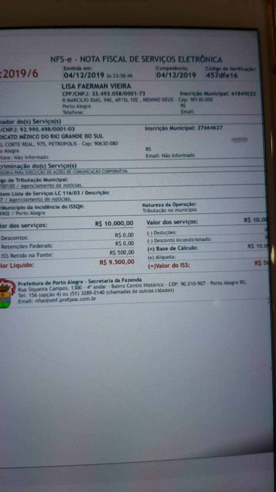 Filha do dono do Videversus recebe 10 mil mensais do Simers (da Chapa 1)
